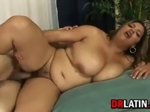 Fat hairy latin girl getting that dirty pussy pounded