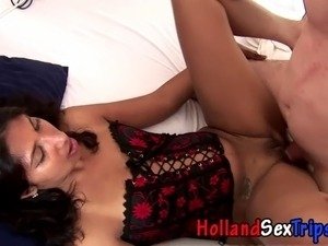 Real hooker cummed on by tourist after fucking for cash