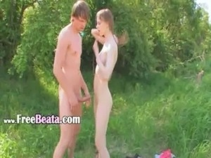 Young couple sex by the lake free