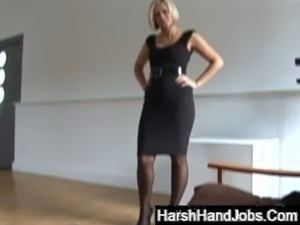 Anna Joy giving a harsh handjob free