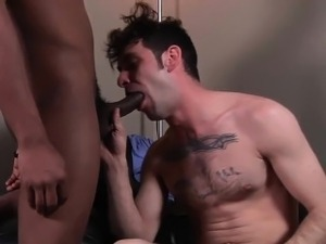 Gay whitey takes black meat