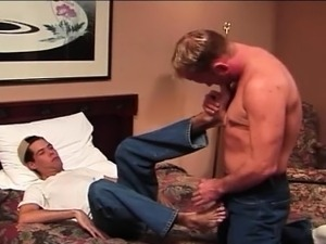 These gay guys love to lick and kiss their smooth feet