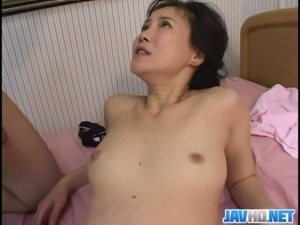 Asian babe gets down and dirty free