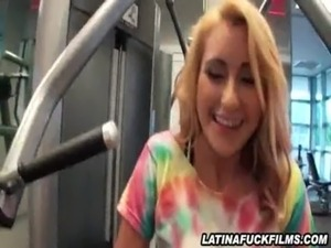 Latina Mariana Angel Sucks Cock In The Gym free