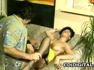 Sexy ebony babe Nina DePonca gets her pussy drilled by a