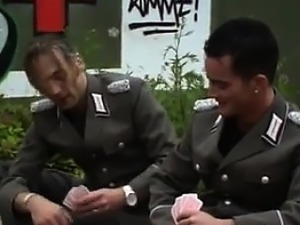Latin Hooker Pleasing Two Guys Outside