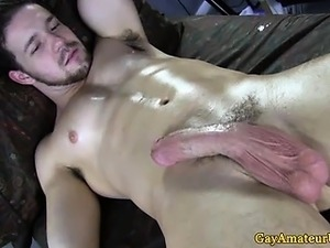 Straight guy finishes his gay massage