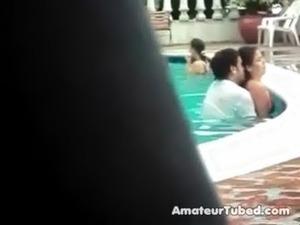 Sex in a public pool free
