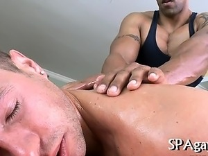 Juicy blowjobs for masseur