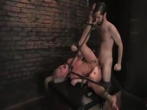 Blondie meets a seemingly nice guy who locks her up and dominates her