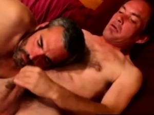 Hairy southern bear squirted with cum