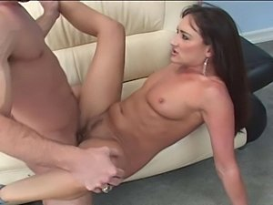 Cute brunette gets analized and creampied