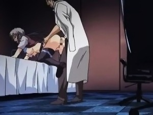 Delicate anime babe getting wet cunt rubbed from her back