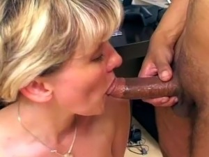 Mature blonde nurse gets fucked in a steamy threesome