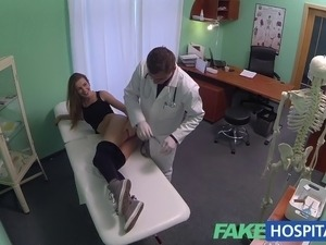 FakeHospital Hot 20s gymnast seduced by doctor and given creampie on the exam...