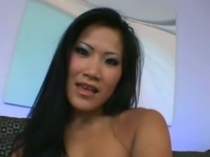 Big Ass Asian Babe Get Fucked And got A Cream