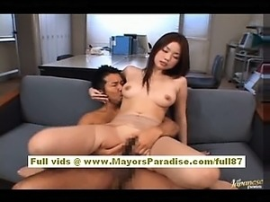 Risa Kasumi aexy office worker and riding asian cock