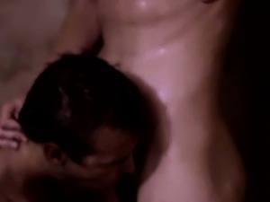 Amateur hunky vampires shower blowjob