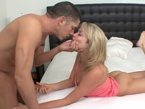 Kinky stud slaps hot blonde ass while he fucks her