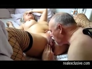 Licking my 60 years sexy wife to an orgasm free