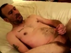 Mature hairy bear gets ass fingered