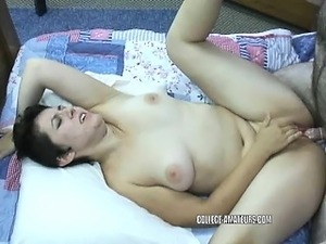 Cute college girl Raven is getting fucked by a geek