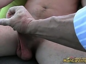 Guy with cute face sucks stiff boner part3