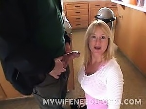 This outrageously horny wife came to us for her cock fix. She got tired of...