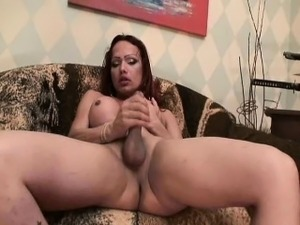 Hot Shemale Got Anal Fucked on a Hot Guy