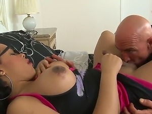 Hot shemale Nody Nadia lets hot stud to deepthroat her long dick and make her...