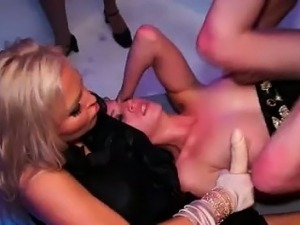 Amazing orgy in a swingers club girls part5