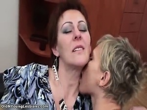 Nasty lesbians get horny making out part4