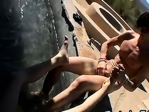 Hot gay sex A Gooey Foot Finish For Two Boys