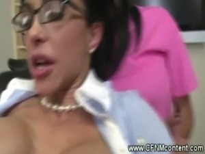 CFNM dentist punishes her clients cock free