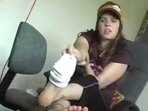 Britneys Smelly Wet Gym Sock POV