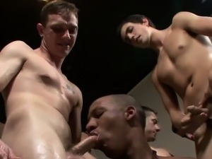 Ebony stud gets bukkaked