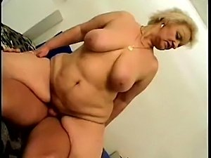 bbw granny and young guy - hot ass and tits