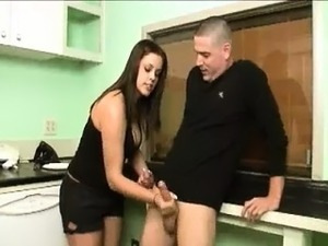 He Hasnt Cleaned The Kitchen And Horny Babe Punishes