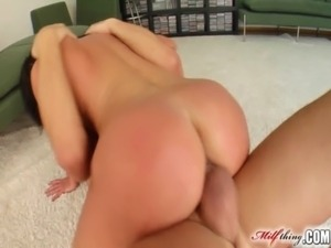 Milf Thing MILF gets cum bath after double penetration free