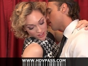 Sexy young housewife Lily Labeau gets on her knees and gives her husband the...