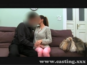 Casting Student tries anal in casting free
