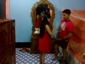 Honeymoon Indian Couple In Their Bedroom Sucking And Fucking free