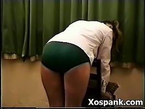 Pervert Chick Entertaining Spanking