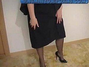 School Teacher In Black Stockings