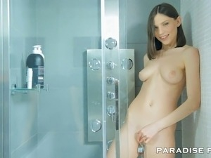 It´s time for Neona to get all naked and wash her beautiful perky body.