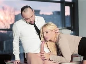 Busty secretary Kyra filled with cum