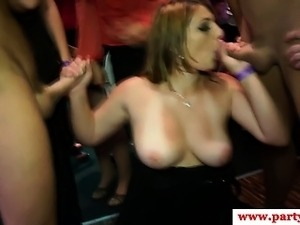 Hottest real euro slammed on floor at dance hardcore party