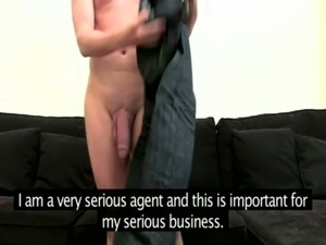 Busty casting lady fingered by client free