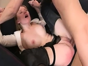 punished secretary with dick in butt