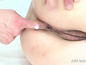 Wild hairy japanese anal deepfucking